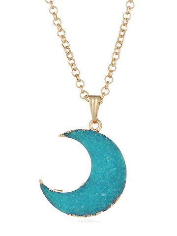 Best Artificial Crystal Moon Decorative Sweet Pendant Necklace