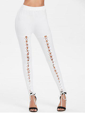 Online Criss Cross Fitted Pants