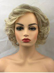 Short Side Bang Colormix Curly Synthetic Wig -