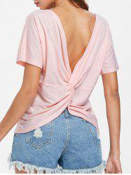 Twist Open Back T-shirt -