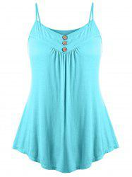 Plus Size Button Embellished Slip Tank Top -