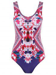 Floral U Back One Piece Swimwear -