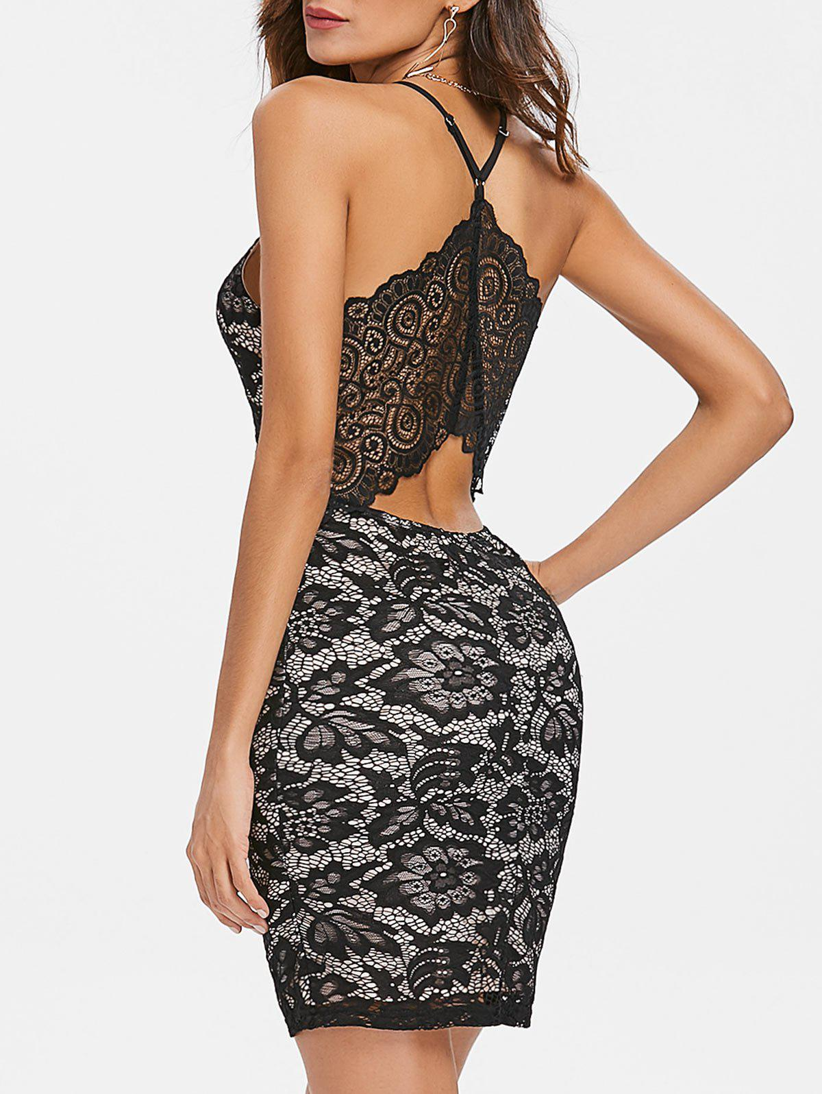 Best Spaghetti Strap Lace Bodycon Dress