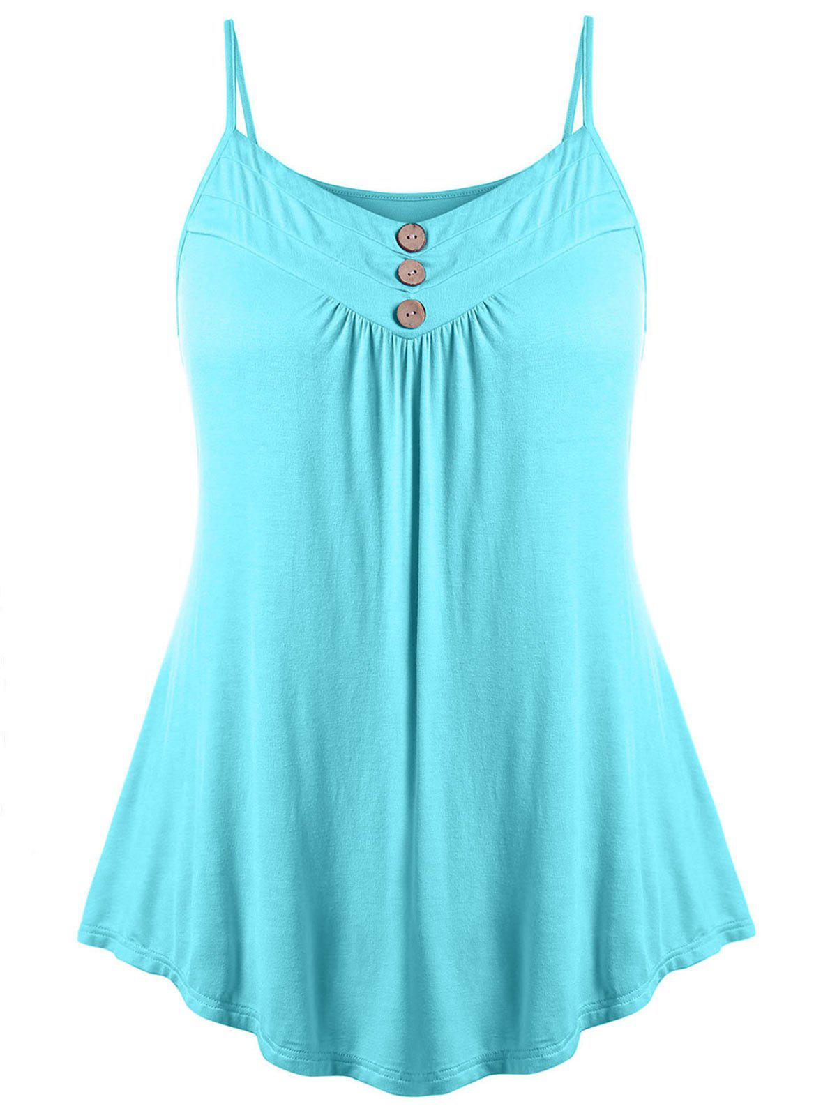 Store Plus Size Button Embellished Slip Tank Top