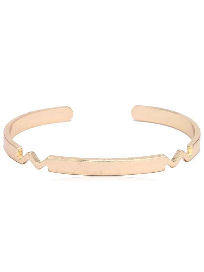 Fashion Geometric Decorative Bangle Cuff Bracelet