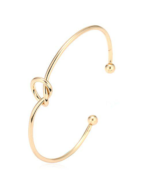 Latest Knotted Double Ball End  Bangle Cuff Bracelet