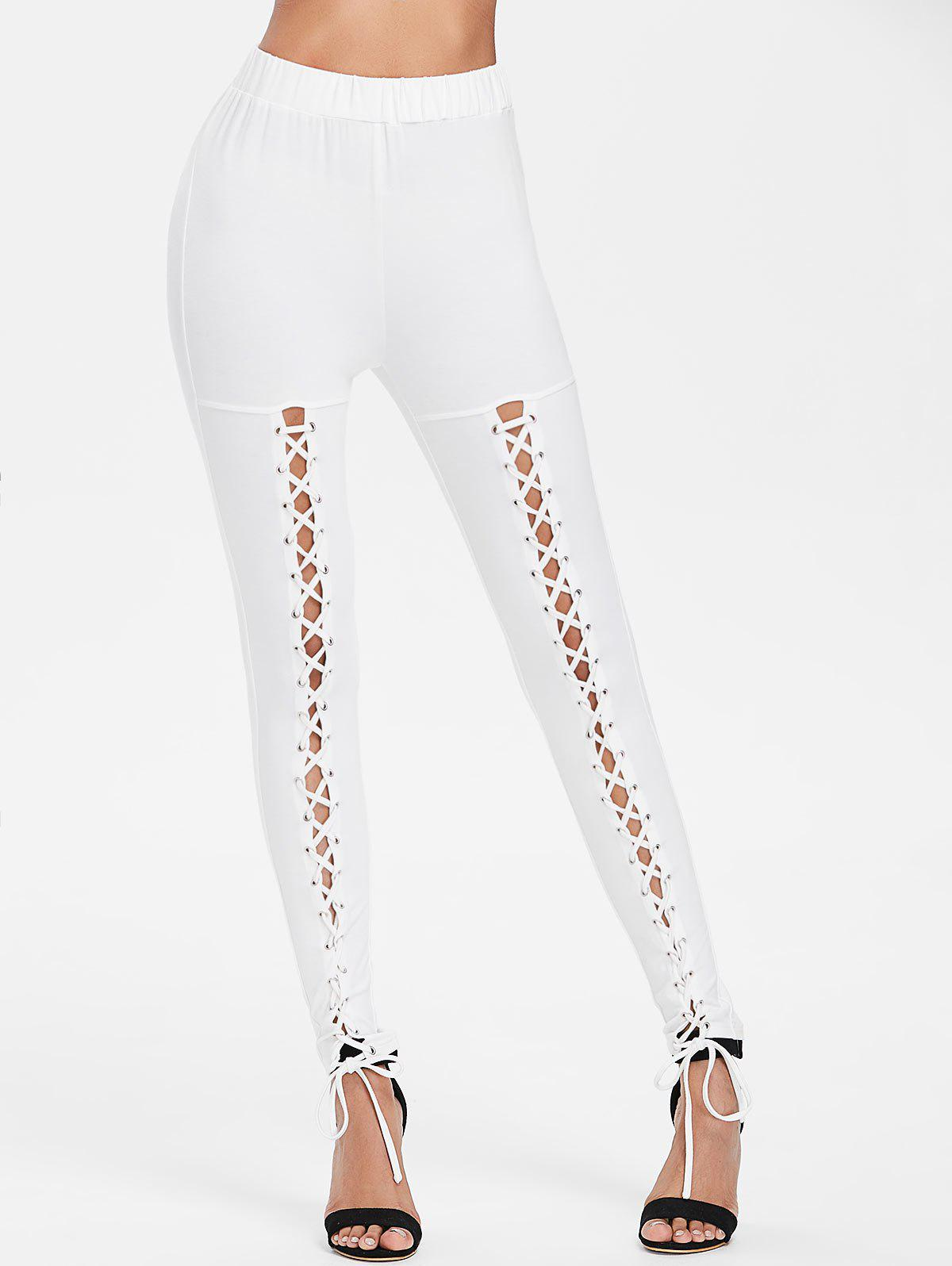 Shops Criss Cross Fitted Pants
