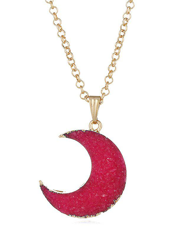 Sale Artificial Crystal Moon Decorative Sweet Pendant Necklace