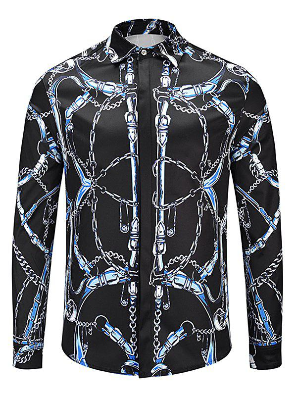Outfit Long Sleeve Allover Chain Print Shirt