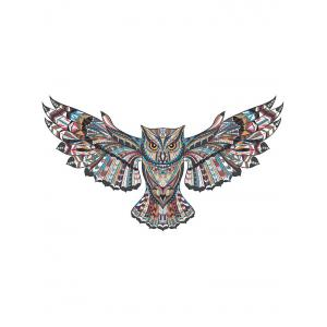 Fly Owl Printed Wall Sticker -