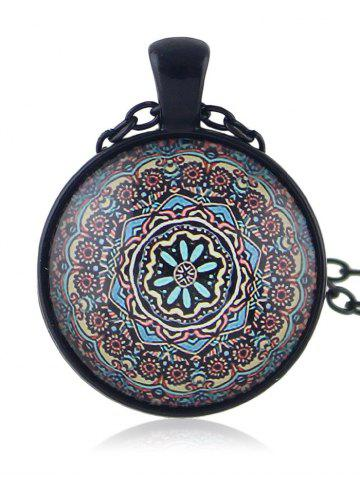 Store Round Shaped Printed Drop Necklace
