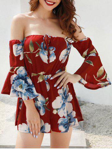 Outfit Bell Sleeve Floral Print Romper