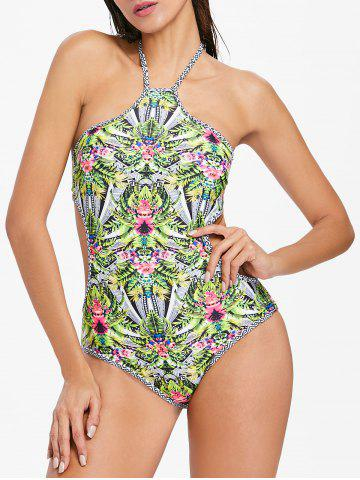 Outfit Flower Halter One Piece Swimsuit
