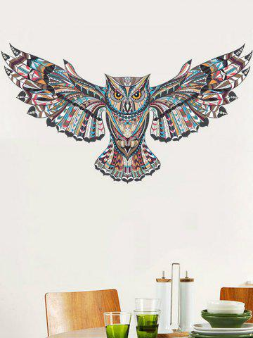Store Fly Owl Printed Wall Sticker