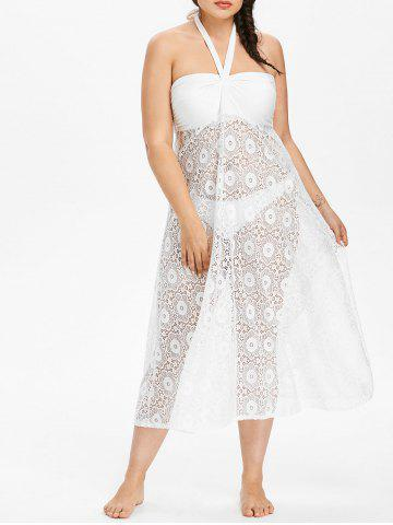 Store Plus Size Lace Overlay Cover-up Dress