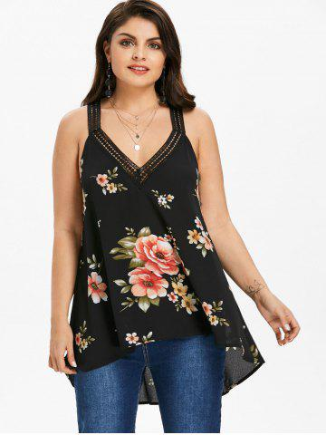Rosegal Plus Size V Neck High Low Tank Top