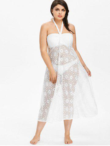 Plus Size Lace Overlay Cover-up Dress