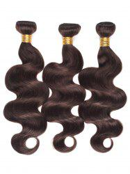 Dyed Permed Human Hair Body Wave Indian Hair Weaves -