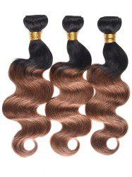 Human Hair Color Block Body Wave Hair Weaves -