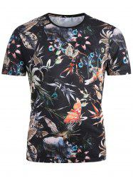 Rainforest Plants and Animals Printed Breathable T-shirt -
