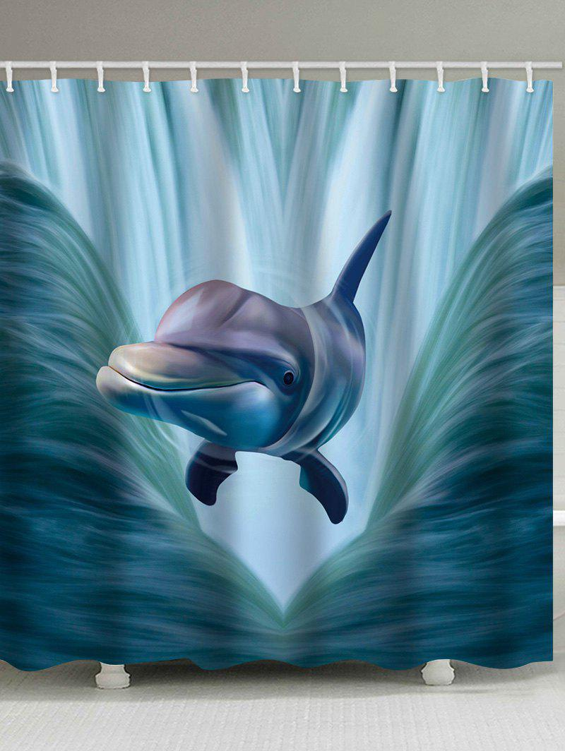 3d Dolphin Print Shower Curtain