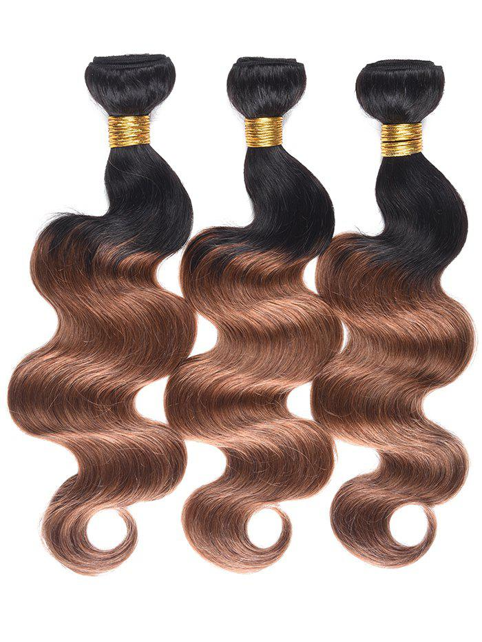 Latest Human Hair Color Block Body Wave Hair Weaves