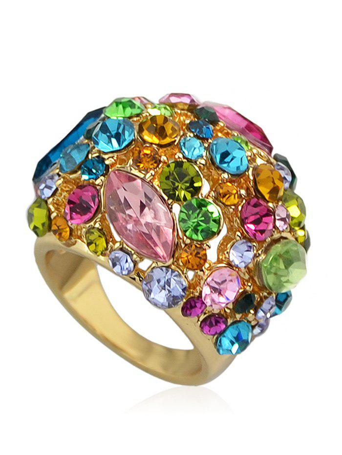 Shop Shimmering Chic Rhinestone Color Block Rings