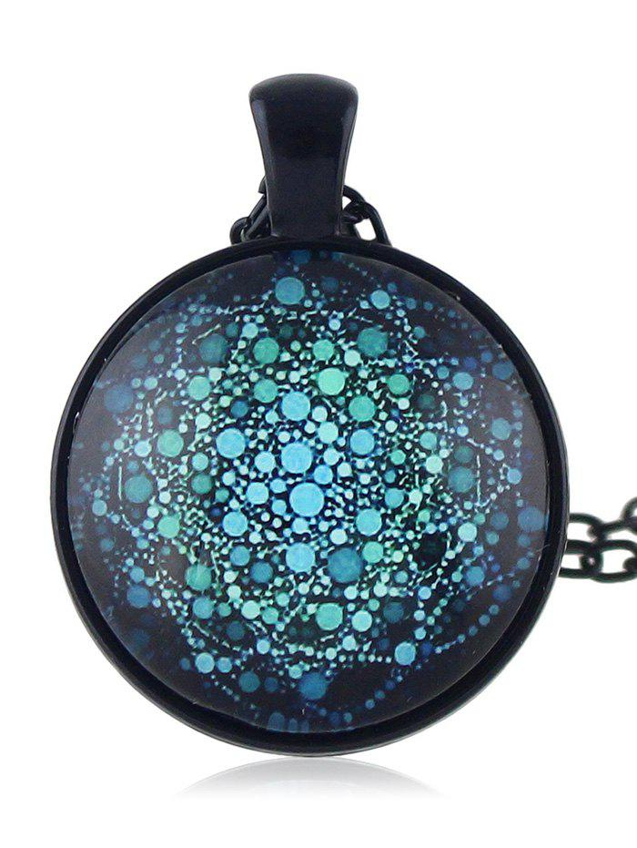 Fashion Round Shaped Printed Drop Necklace