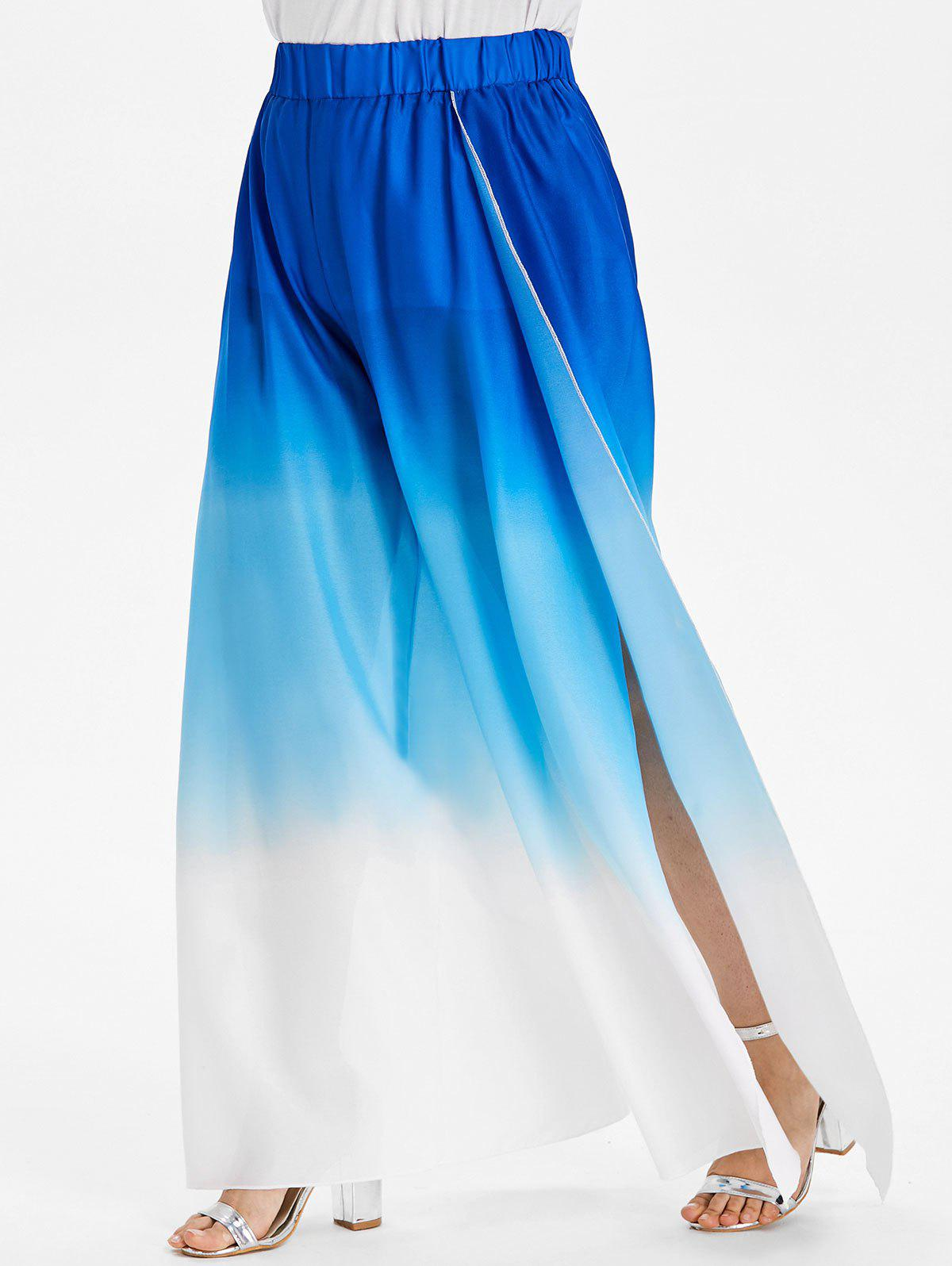 Outfit Plus Size Ombre Wide Leg Pants