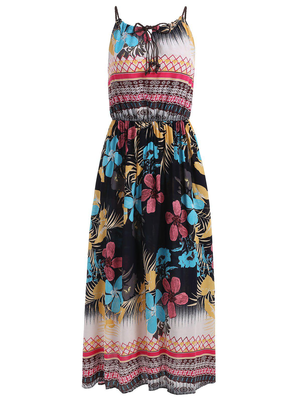 ca4b1ec72ea Print Spaghetti Strap Casual Dress - One Size