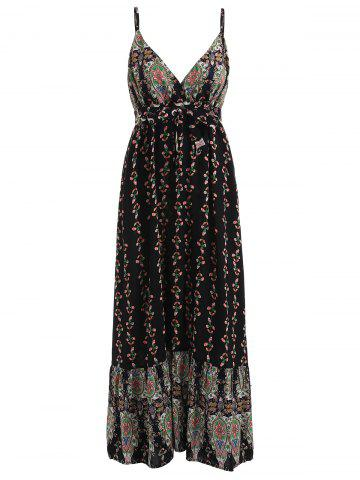 Shop Bohemian Print Low Cut Dress