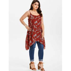Plus Size Flower Handkerchief Tank Top -