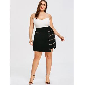 Plus Size Asymmetric Ladder Chain Skirt -