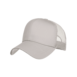 Solid Color Ponytail Mesh Baseball Hat -