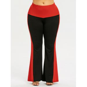 Plus Size Two Tone Flare Pants -