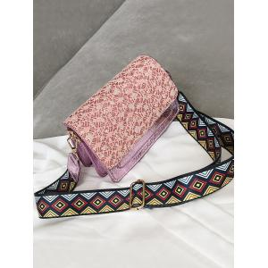Chic Dazzling Color Block Daily Crossbody Bag -