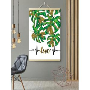 Tropical Leaves Print Wall Hanging Canvas Art Painting -
