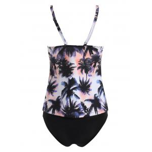 Ensemble de Tankini Plongeant Coconut Tree -