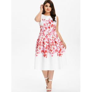 Plus Size Sleeveless Midi Flare Dress -