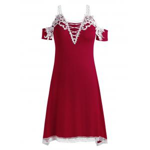 Plus Size Crochet Handkerchief Dress -