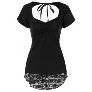 Open Back Lace Insert Top -