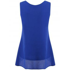 V Neck Hollow Out Tank Top -