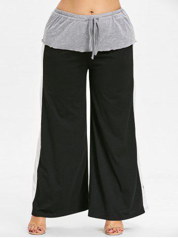 Fancy Layered Plus Size Wide Leg Pants