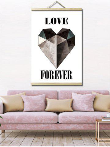 Sale Love Heart Print Wall Hanging Canvas Art Painting