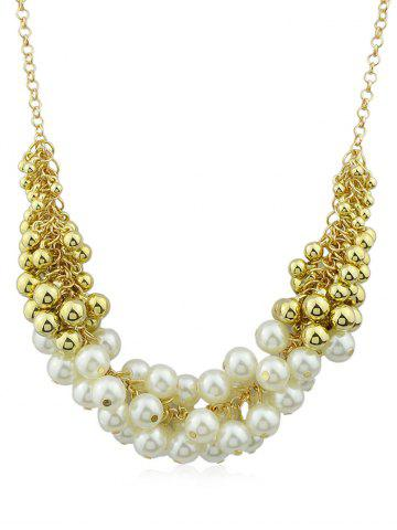 Unique Artificial Pearls Decorations Chain Hanging Necklace