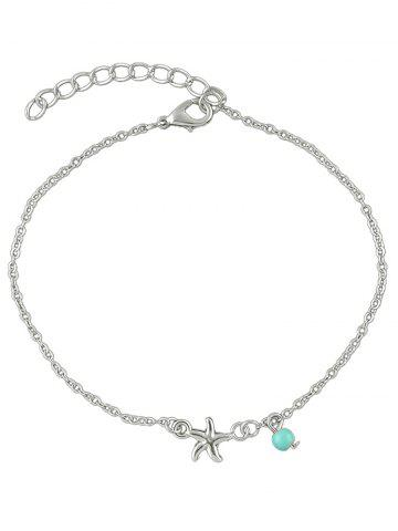 New Starfish Bead Charm Anklet