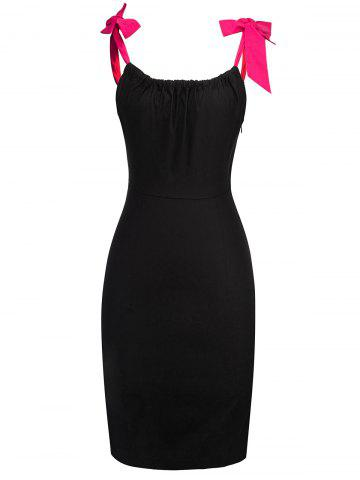 Outfits Bodycon Self Tie Straps Knee Length Dress