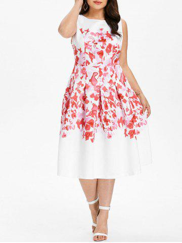 Outfit Plus Size Sleeveless Midi Flare Dress