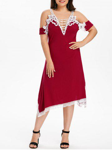 Cheap Plus Size Crochet Handkerchief Dress