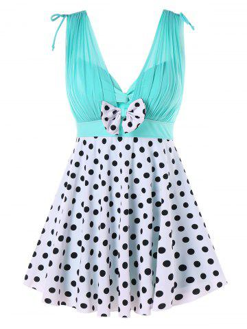 2367c7b9712d8 One Piece Polka Dot Skirted Swimwear